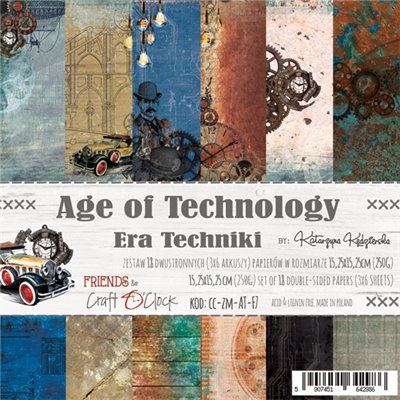 "Age of Technology- paper pad 6""x6"""