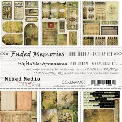 Faded Memories - Junk Journal set of element sheets