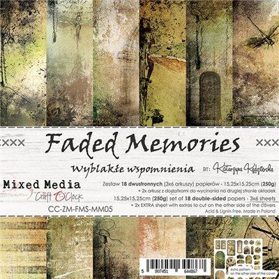 """Faded Memories - paper pad 6""""x6"""""""