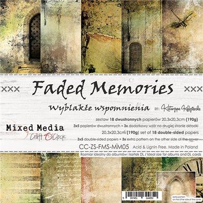 """Faded Memories - paper pad 8""""x8"""""""