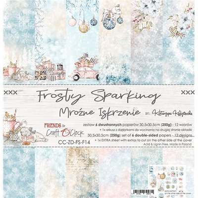 "Frosty Sparking - paper set 12""x12"""