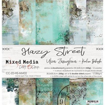 "Hazy Street - paper set 12""x12"""
