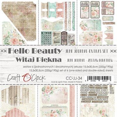 Hello Beauty - Junk Journal set of element sheets
