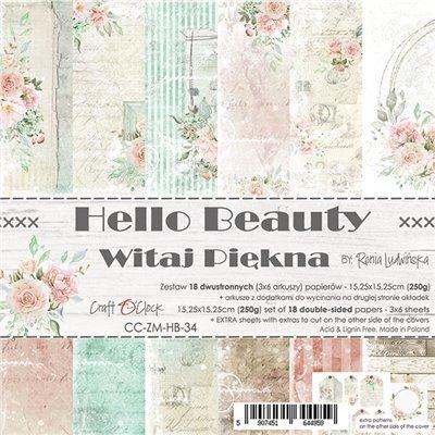 "Hello Beauty - paper pad 6""x6"""