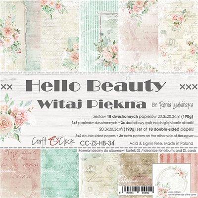 "Hello Beauty - paper pad 8""x8"""