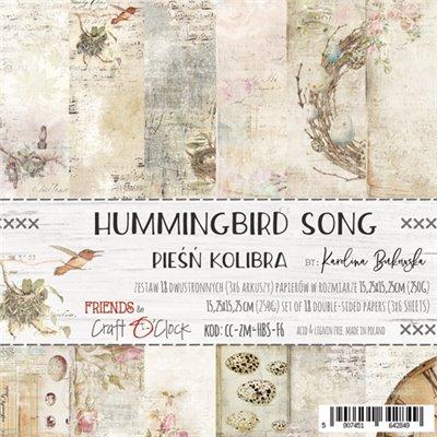 "Hummingbird Song - paper pad 6""x6"""