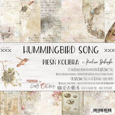 "Hummingbird Song - paper pad 8""x8"""