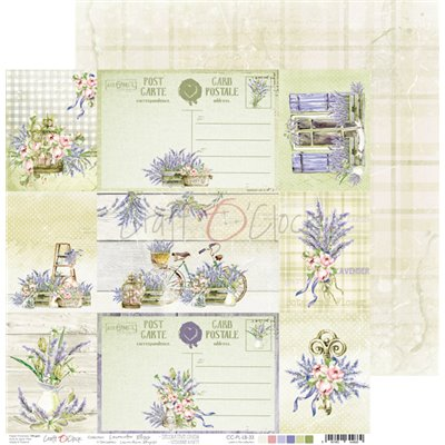 Lavender Bliss - element sheet - cards