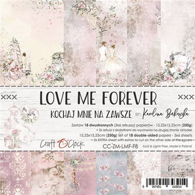 """Love Me Forever - paper pad 6""""x6"""""""
