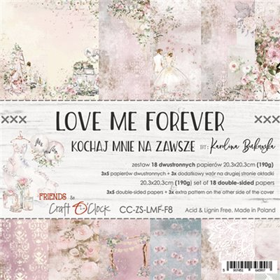 """Love Me Forever - paper pad 8""""x8"""""""
