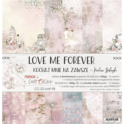 """Love Me Forever - paper set 12""""x12"""""""