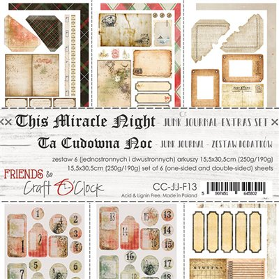 This Miracle Night - Junk Journal set of element sheets
