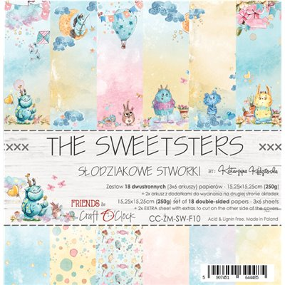 """The Sweetsters - paper pad 6""""x6"""""""