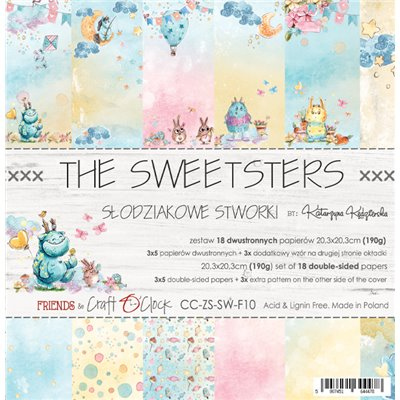 """The Sweetsters - paper pad 8""""x8"""""""