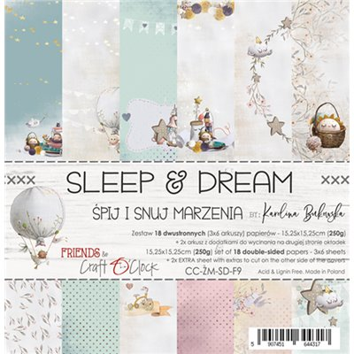 "Sleep & Dream - paper pad 6""x6"""