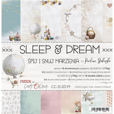 "Sleep & Dream - paper pad 8""x8"""