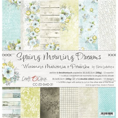 "Spring Morning Dreams - paper set 12""x12"""