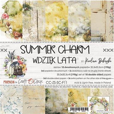 "Summer Charm - paper pad 8""x8"""