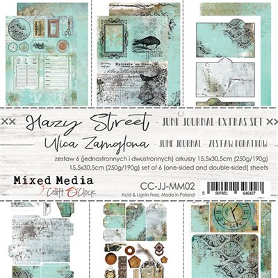 Hazy Street - Junk Journal element sheet set