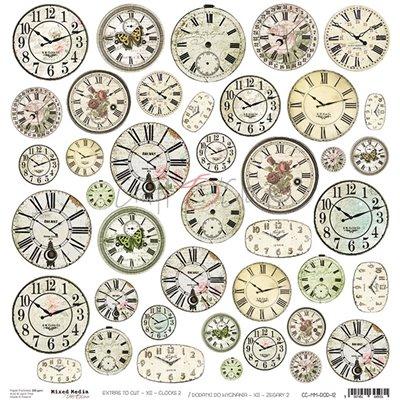 Mixed Media XII Clocks - II element sheet