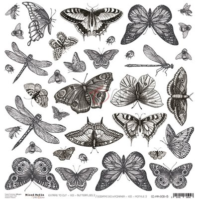 Mixed Media XIII Butterflies - II element sheet