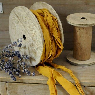 Linen ribbon des.24. - mustard/mustár