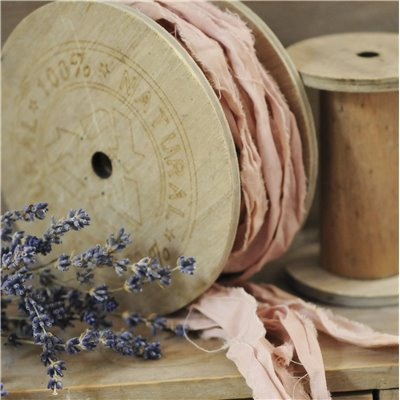 Linen ribbon des.23. - dirty pink/piszkos pink