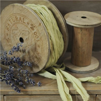 Linen ribbon des.24. - lemon/citrom