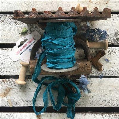 Old Fashion satin ribbon - kék