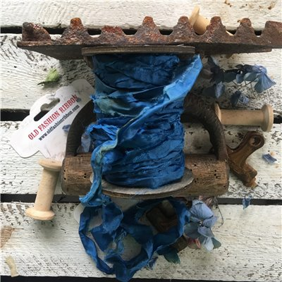 Old Fashion satin ribbon - dark blue/sötétkék