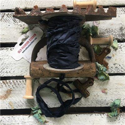 Old Fashion satin ribbon - navy blue/farmerkék