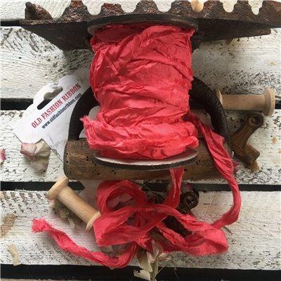 Old Fashion satin ribbon - raspberry/málna