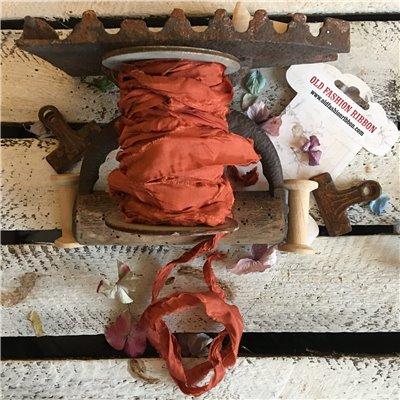 Old Fashion satin ribbon - copper/réz