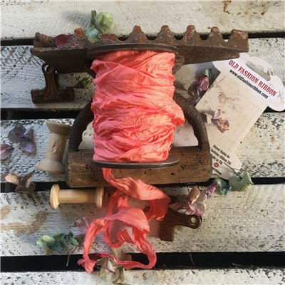 Old Fashion satin ribbon - korall