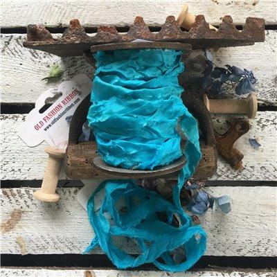 Old Fashion satin ribbon - greek blue/görög kék