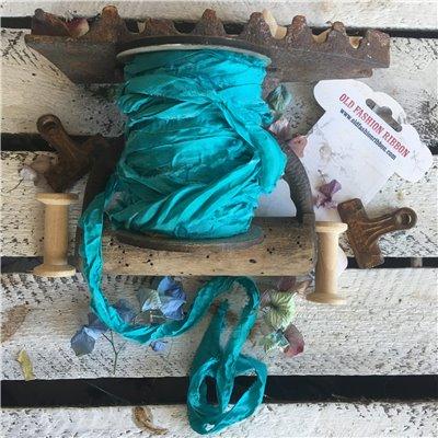Old Fashion satin ribbon - turquoise sea/türkizkék