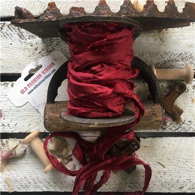 Old Fashion satin ribbon - christmas burgundy/karácsonyi burgundi