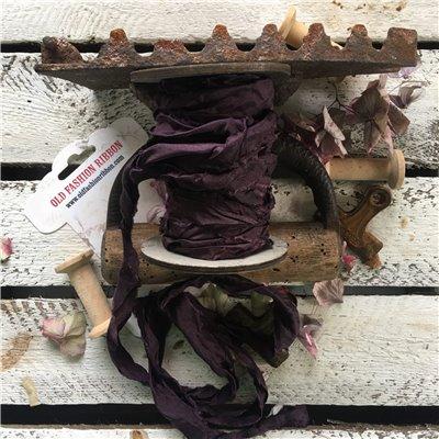 Old Fashion satin ribbon - plum/szilva