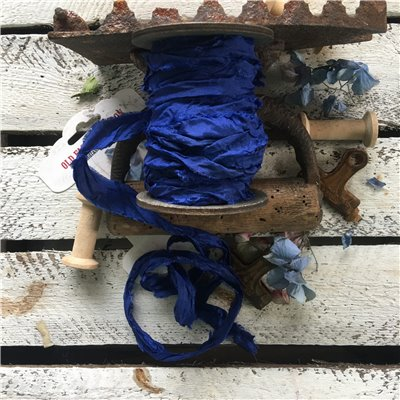 Old Fashion satin ribbon - cobalt/kobaltkék