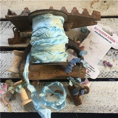 Old Fashion satin ribbon - light blue/halványkék