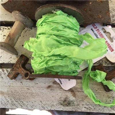 Old Fashion satin ribbon - lime
