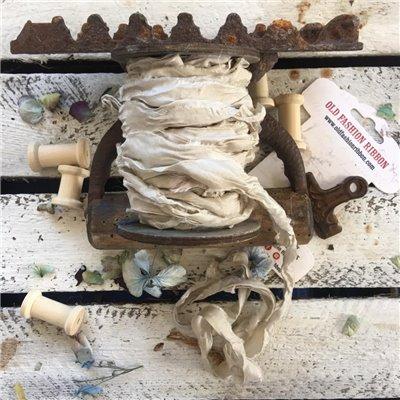 Old Fashion satin ribbon - linen/len