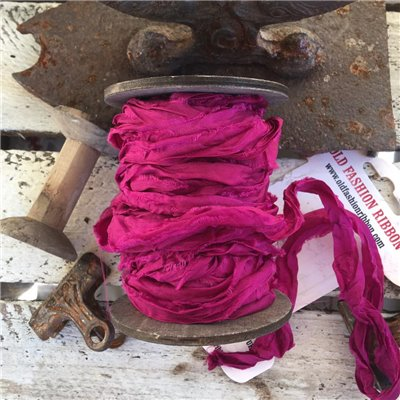 Old Fashion satin ribbon - fuchsia/fukszia