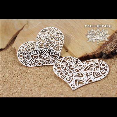 Mehendi - Lace hearts