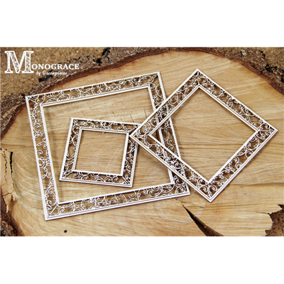 Monograce - 2 layer Square frames 3 pcs