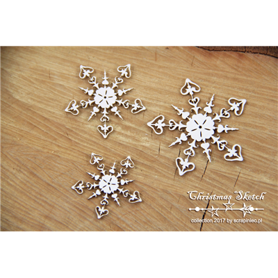 Christmas Sketch - 3 snowflakes