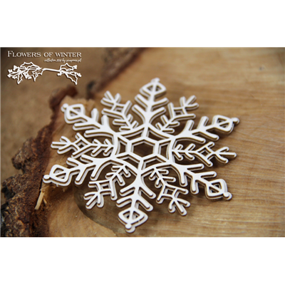 Flowers of Winter - 2 layers Snowflake