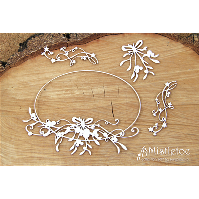 Mistletoe - big oval frame