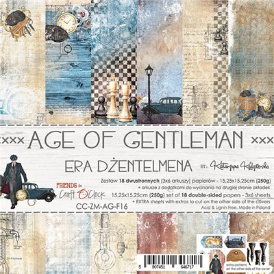 Age Of Gentleman - paper set 15,25 x 15,25 cm