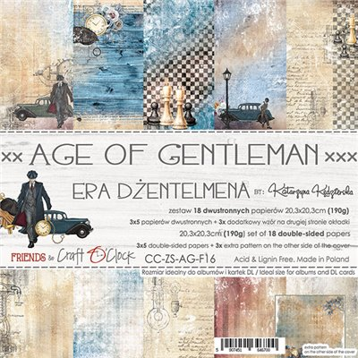 Age Of Gentleman - paper set 20,3 x 20,3 cm